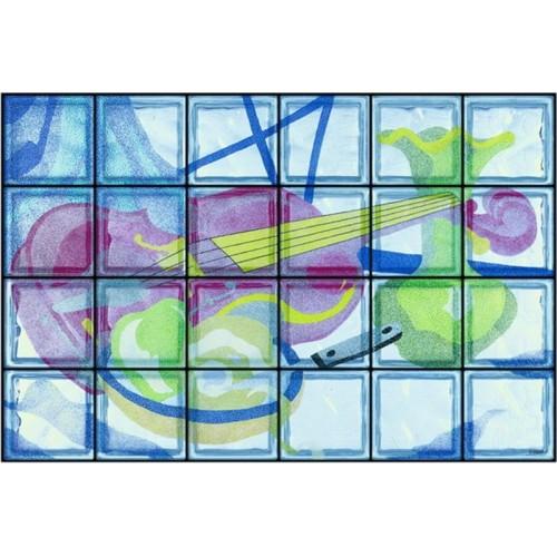 Composición de 24 bloques de vidrio Natura Morta