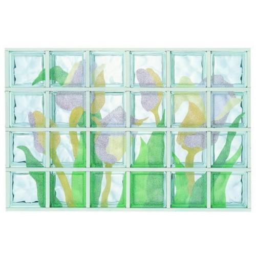 Composición de 24 bloques de vidrio Tulipani