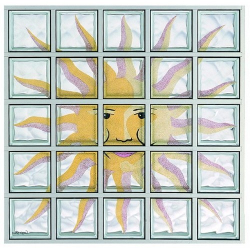 Composición de 25 bloques de vidrio Sole