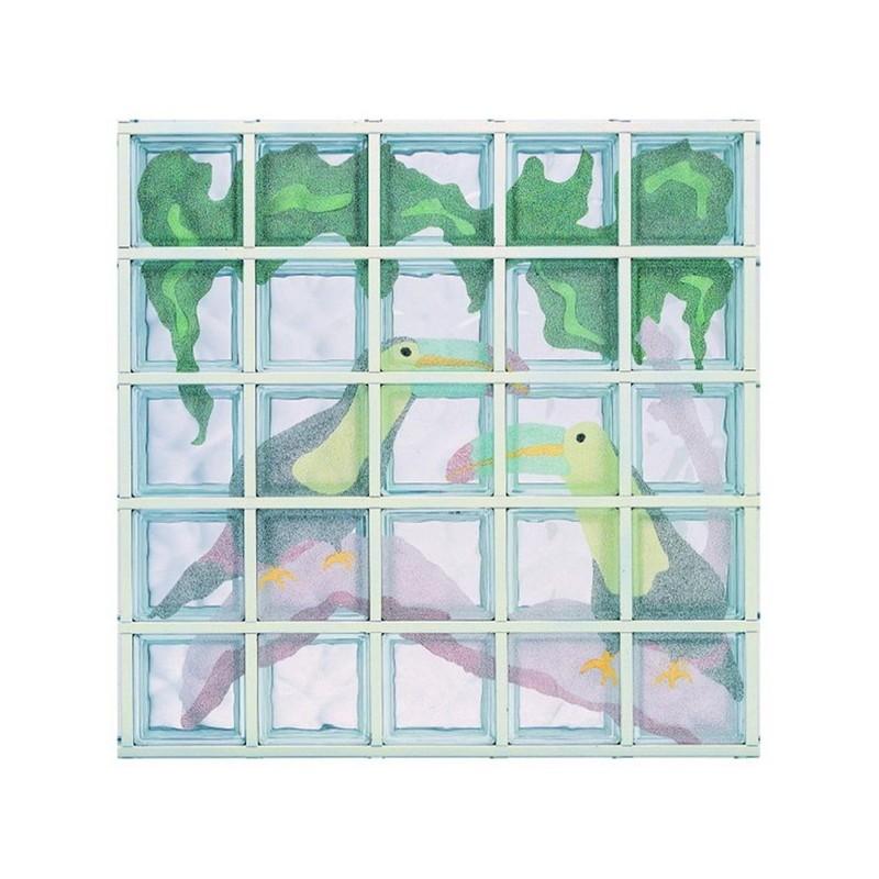 Composición de 25 bloques de vidrio Tucani