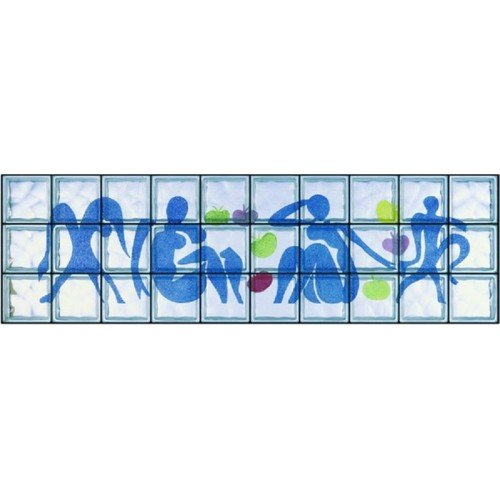 "Composición de 30 bloques de vidrio Omaggio a Matisse ""Femmes et Singes"""
