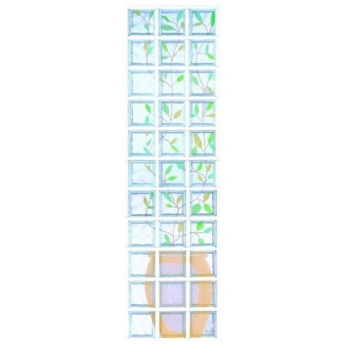 Composición de 33 bloques de vidrio Tralcio con Foglie