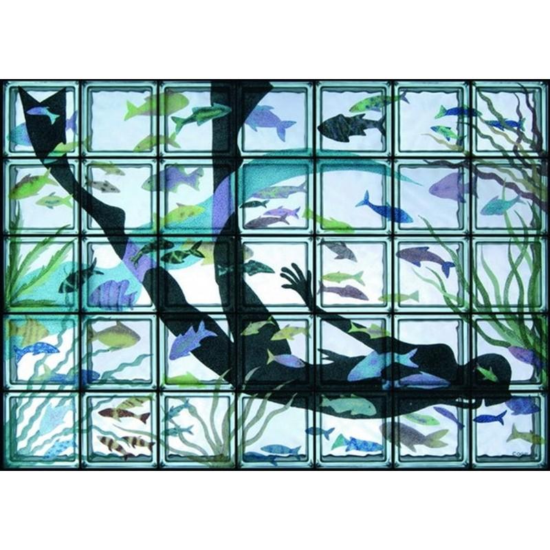 Composición de 35 bloques de vidrio Apnea