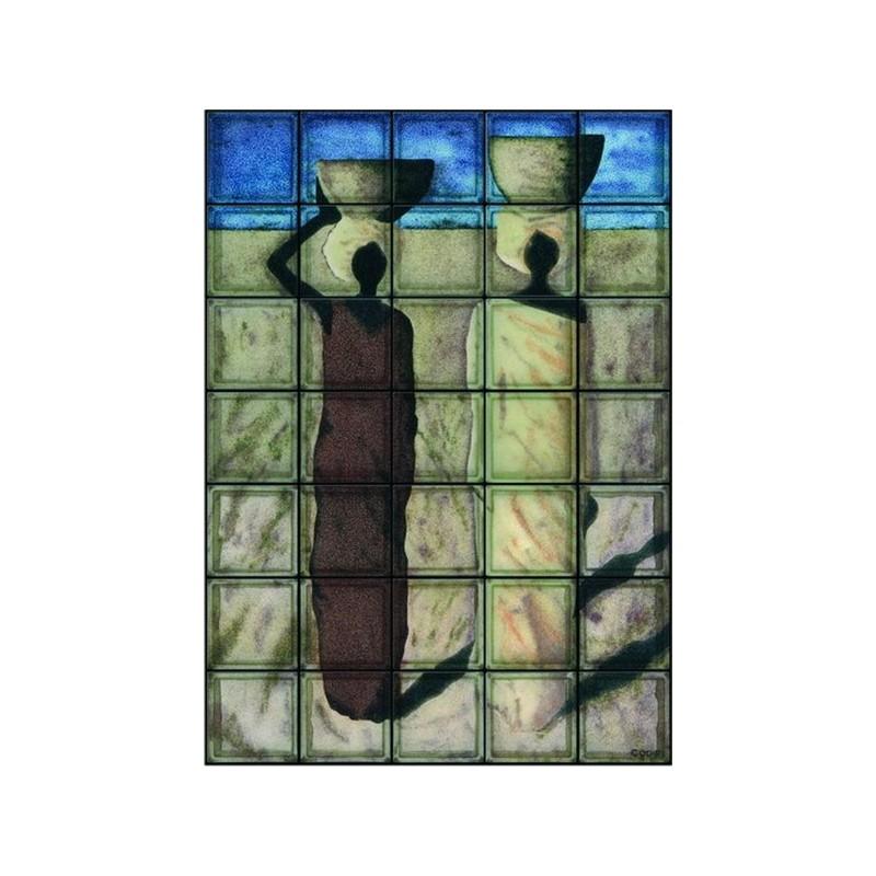 Composición de 35 bloques de vidrio Donne Calabash