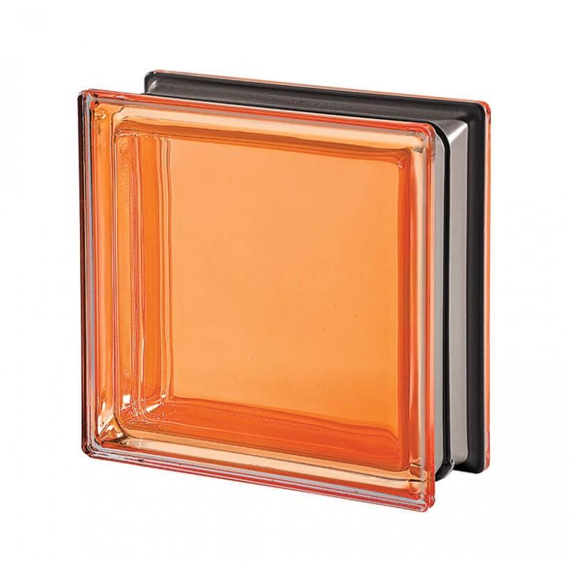 Bloque de vidrio Mendini Ambra 19x19x8cm