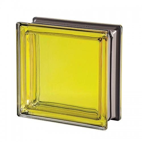 Bloque de vidrio Mendini Citrino 19x19x8cm