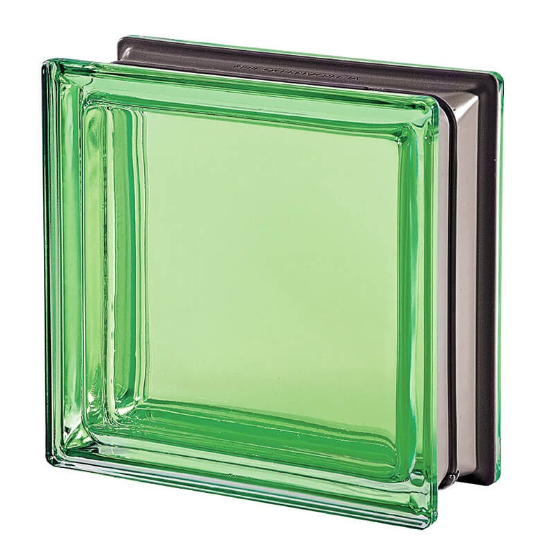 Bloque de vidrio Malachite 19x19x8cm