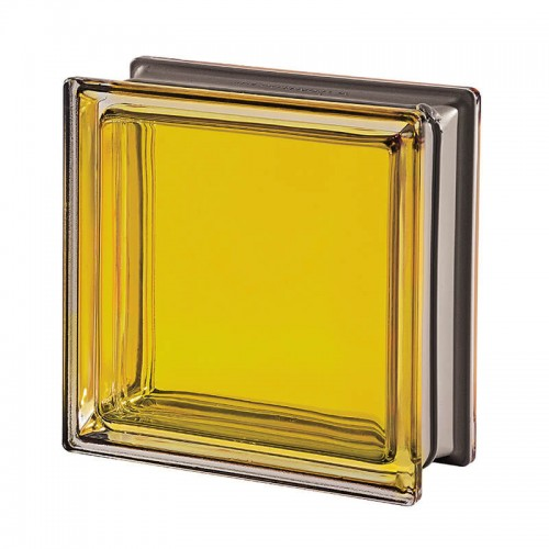 Bloque de vidrio Mendini Topazio 19x19x8cm