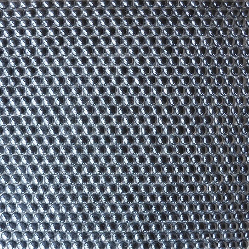 Mosaico Redondo Esmaltado Negro con Lustre