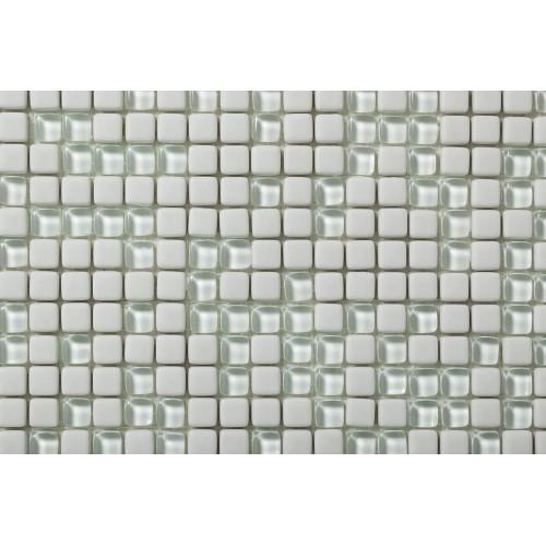 Mosaico Cuadrado Esmaltado con cristal Nº 1 - MALLA