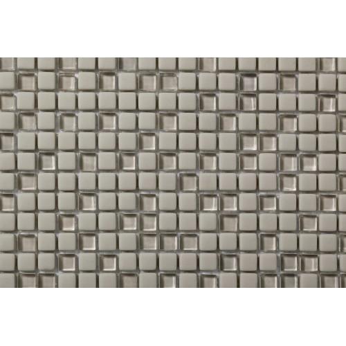 Mosaico Cuadrado Esmaltado con Cristal Nº 2A - MALLA