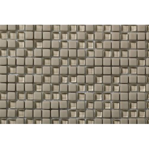 Mosaico Cuadrado Esmaltado con Cristal Nº 3 - MALLA