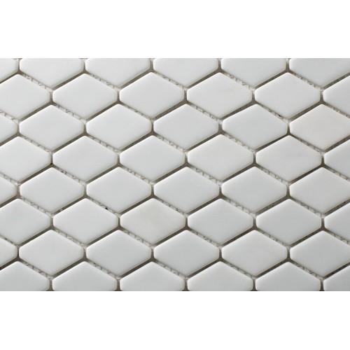 Mosaico Hexagonal Esmaltado Blanco - MALLA
