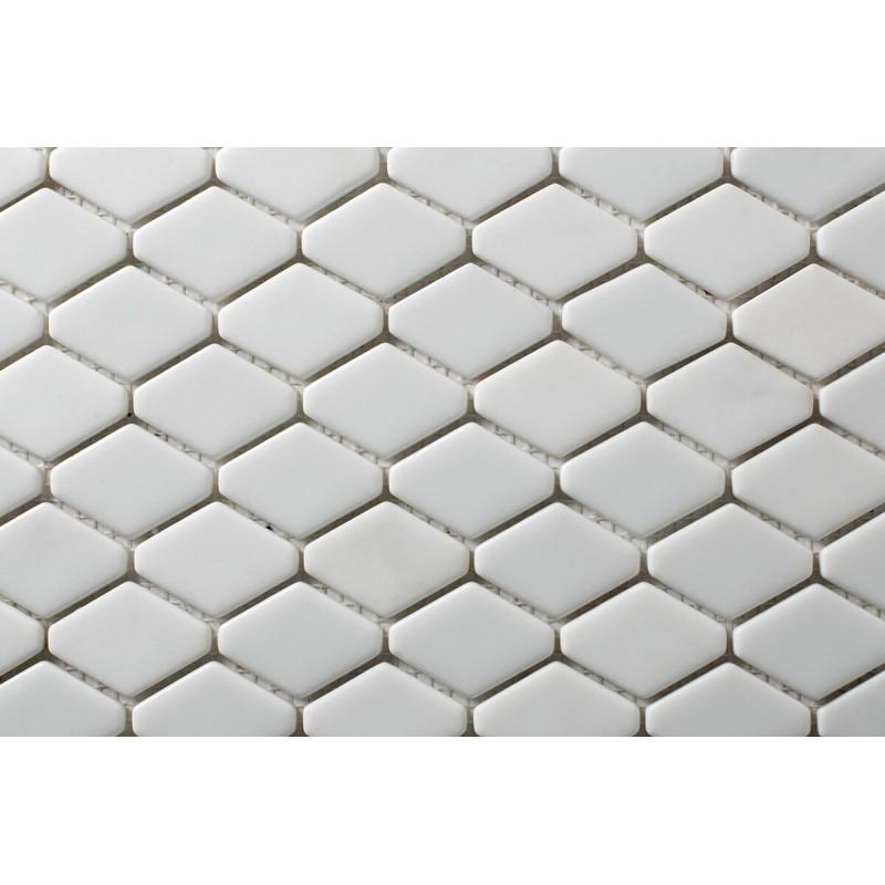 Mosaico Hexagonal Esmaltado Blanco