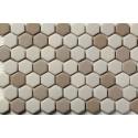 Mosaico Hexagonal Esmaltado Blend 66 - MALLA