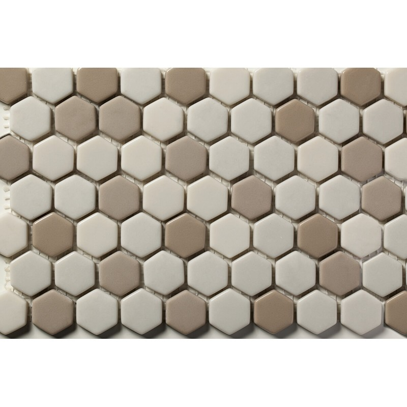 Mosaico Hexagonal Esmaltado Blend 66