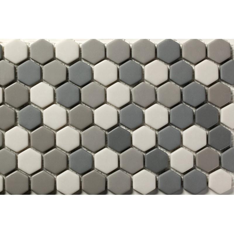 Mosaico Hexagonal Esmaltado Blend 68