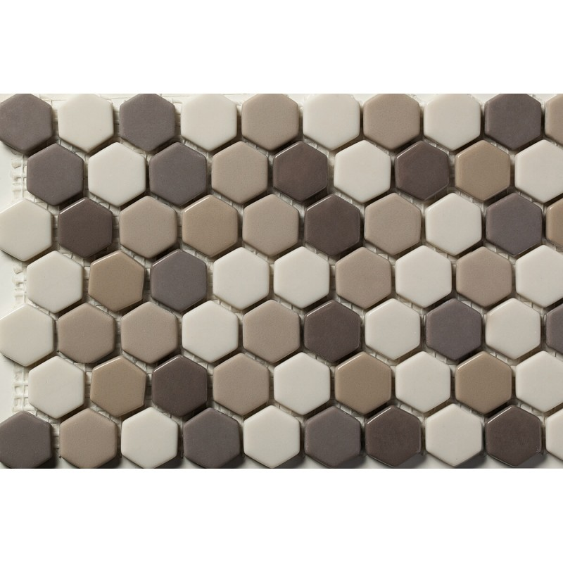 Mosaico Hexagonal Esmaltado Blend 76