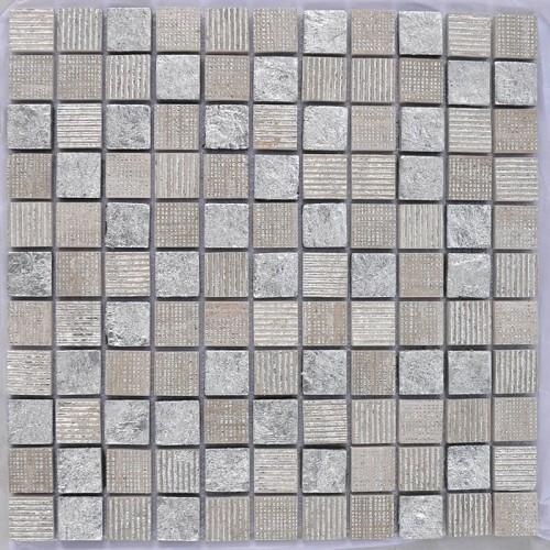 Mosaico Cuadrado Cinderella Marble & Silver Leaf - MALLA