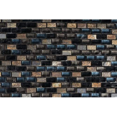 Mosaico Rectangular Mini Metalic Blend 5 - MALLA