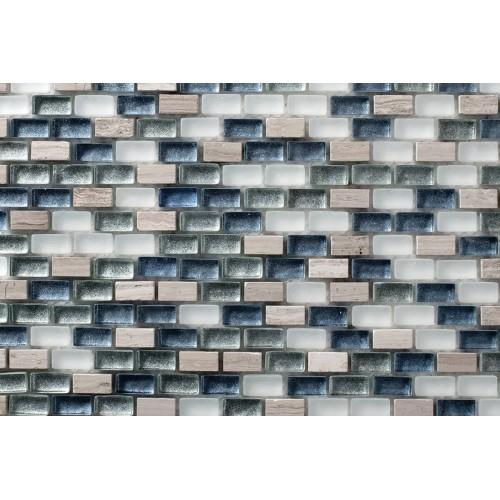 Mosaico Rectangular Mini Metalic Blend 6 - MALLA