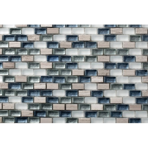 Mosaico Rectangular Mini Metalic Blend 6 - MALLA