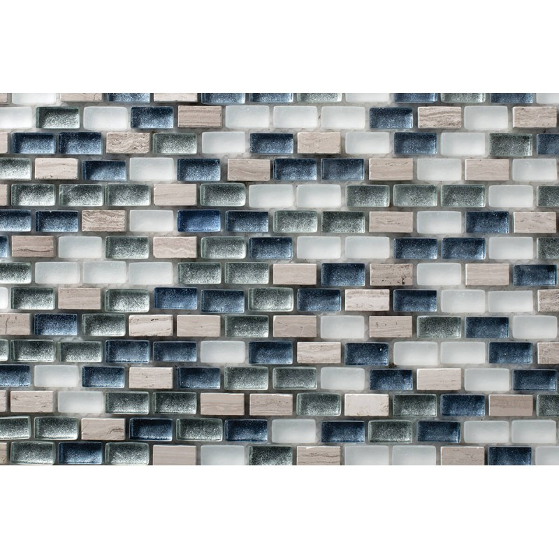 Mosaico Rectangular Mini Metalic Blend 6