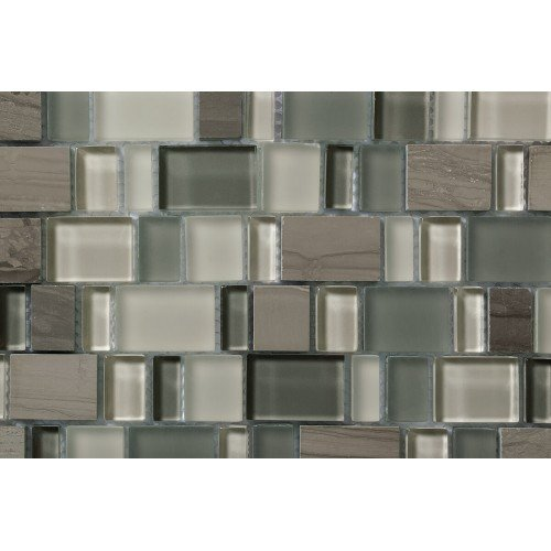 Mosaico Karma Blend 1 Glass & Wooden Moca - MALLA