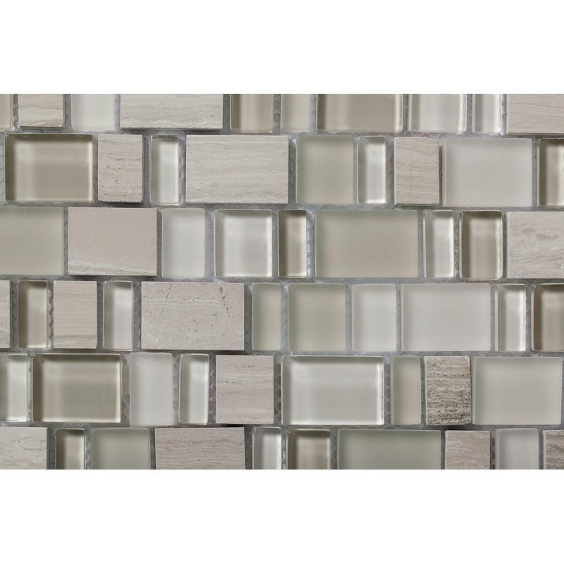 Mosaico Karma Comb Glas & Wooden White