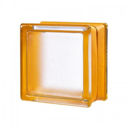 Bloque de vidrio Artic Apricot 14,6x14,6x8cm