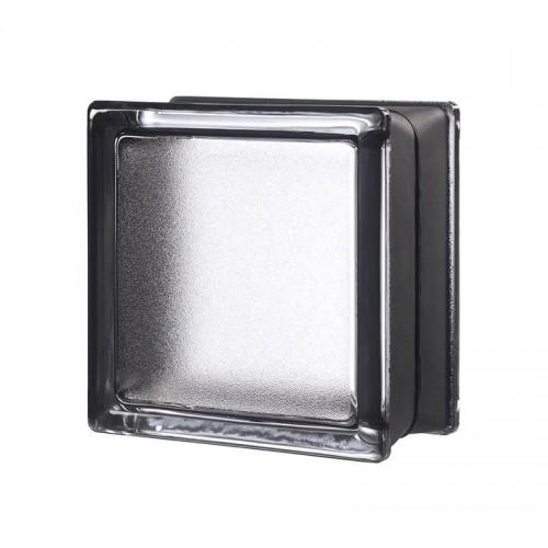 Bloque de vidrio Artic Licorice 14,6x14,6x8cm