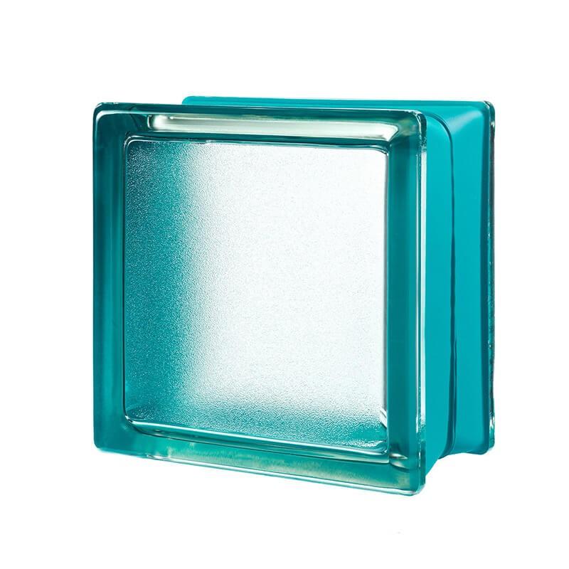 Bloque de vidrio Artic Mint 14,6x14,6x8cm