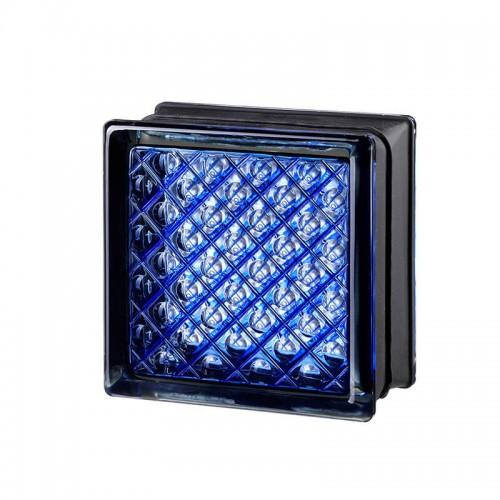 Bloque de vidrio Daredevil Blue 14,6x14,6x8cm
