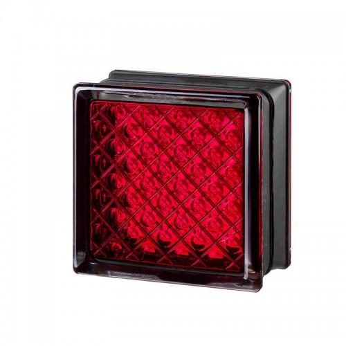 Bloque de vidrio Daredevil Red 14,6x14,6x8cm