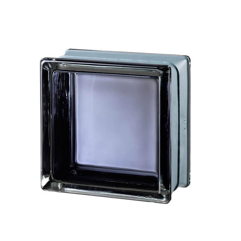 Bloque de vidrio Futuristic Black 30% 14,6x14,6x8cm
