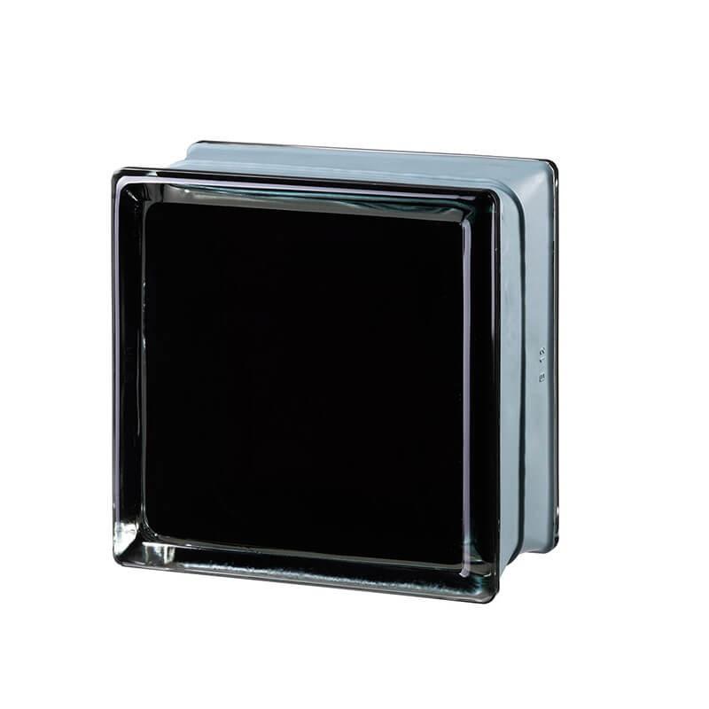 Bloque de vidrio Futuristic Black 100% 14,6x14,6x8cm