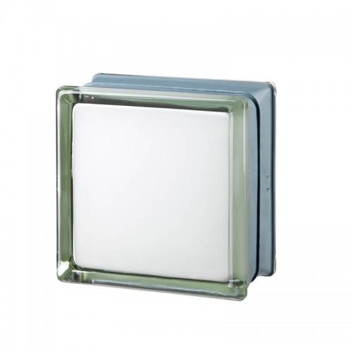 Bloque de vidrio Futuristic White 100% 14,6x14,6x8cm