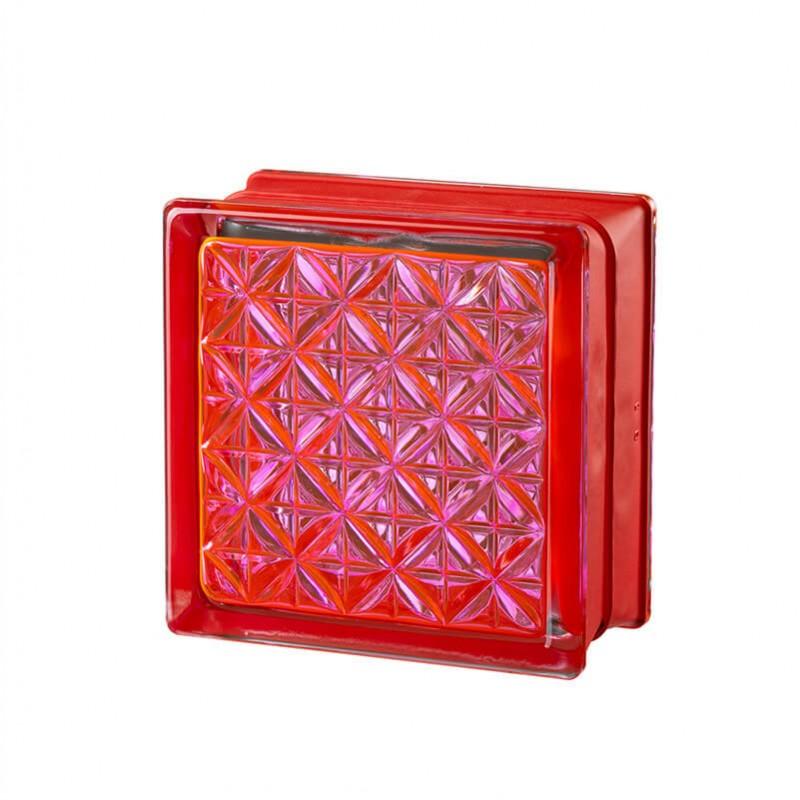 Bloque de vidrio Romantic Pink 14.6x14.6x8cm