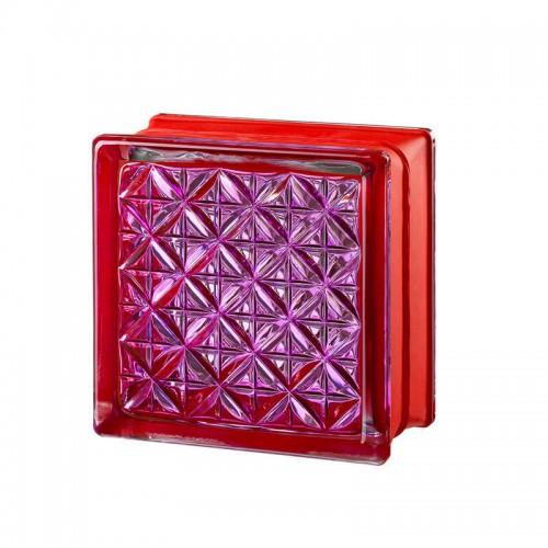 Bloque de vidrio Romantic Ruby 14,6x14,6x8cm