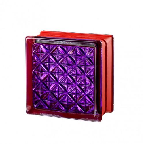 Bloque de vidrio Romantic Violet 14,6x14,6x8cm