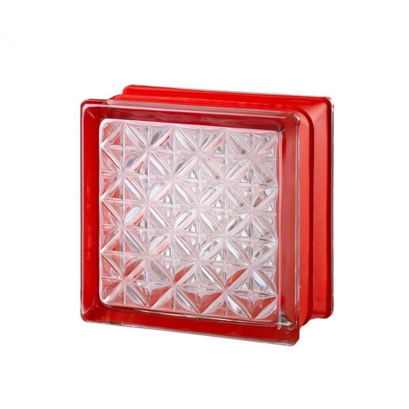 Bloque de vidrio Romantic White 30% 14,6x14,6x8cm