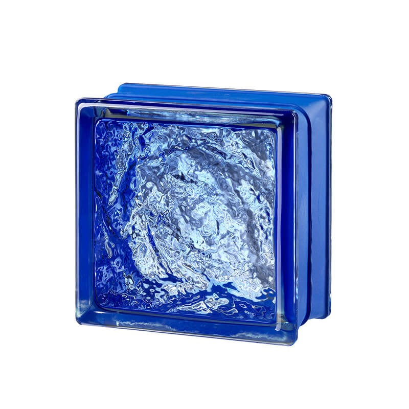 Bloque de vidrio Sophisticated Blue 14,6x14,6x8cm
