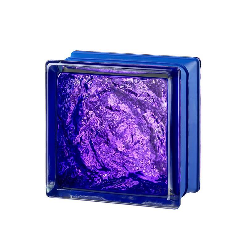 Bloque de vidrio Sophisticated Violet 14,6x14,6x8cm