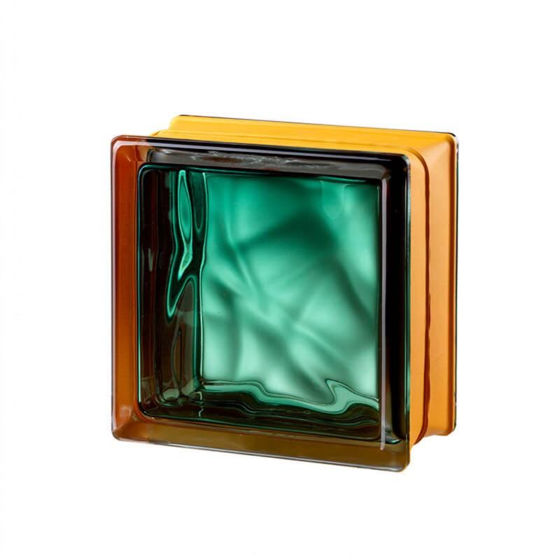 Bloque de vidrio Vegan Emerald 14,6x14,6x8cm