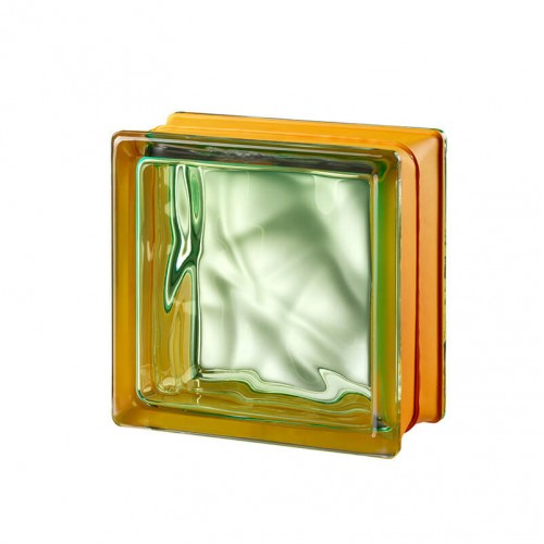 Bloque de vidrio Vegan Green 14,6x14,6x8cm