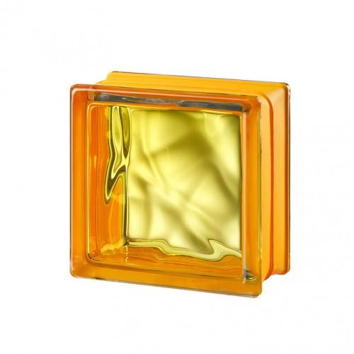 Bloque de vidrio Vegan Yellow 14,6x14,6x8cm