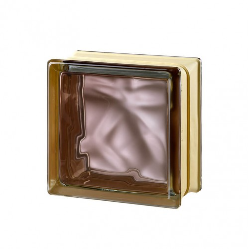 Bloque de vidrio Very Natural Bronze 14,6x14,6x8cm
