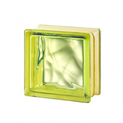 Bloque de vidrio Very Natural Green 14,6x14,6x8cm