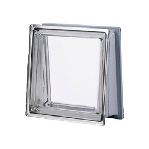 Bloque de vidrio Trapezoidal Metalizado Neutro 30x30x8/13cm