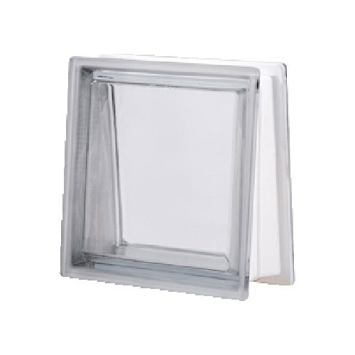 Bloque de vidrio Trapezoidal Transparente Neutro 30x30x8/13cm